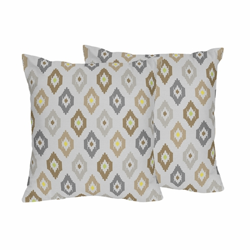 Safari Outback Ikat Jungle Decorative Accent Throw Pillows - Set of 2 - Click to enlarge