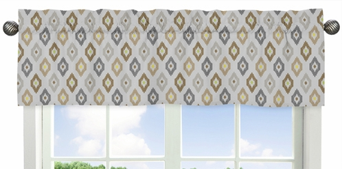 Safari Outback Jungle�Collection Ikat Window Valance by Sweet Jojo Designs - Click to enlarge