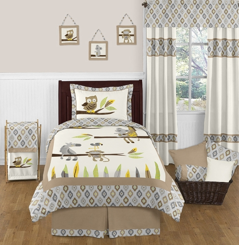 Safari Outback Jungle 4pc Twin Bedding Set by Sweet Jojo Designs - Click to enlarge