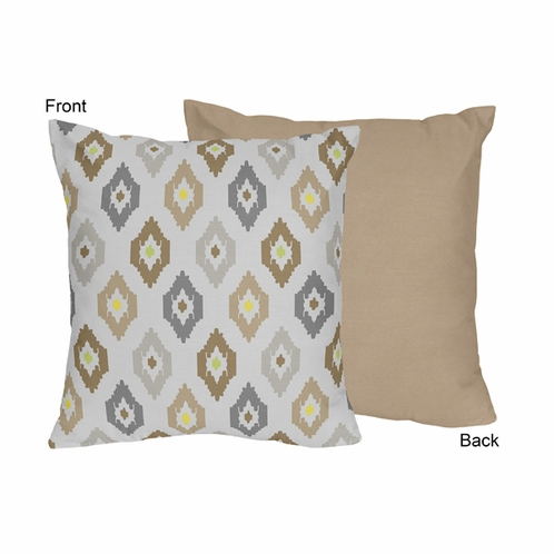 Safari Outback Jungle Ikat Decorative Accent Throw Pillow by Sweet Jojo Designs - Click to enlarge