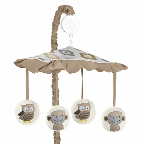 Safari Outback Jungle Musical Baby Crib Mobile by Sweet Jojo Designs - Click to enlarge