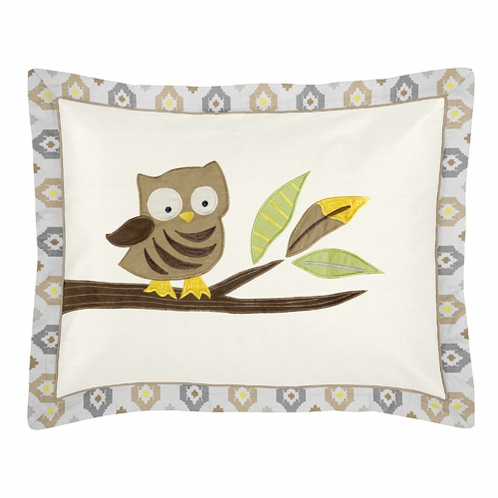Safari Outback Jungle Pillow Sham by Sweet Jojo Designs - Click to enlarge