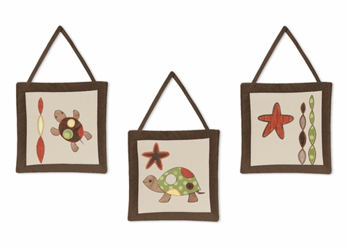 Sea Turtle Wall Hanging Accessories by Sweet Jojo Designs - Click to enlarge