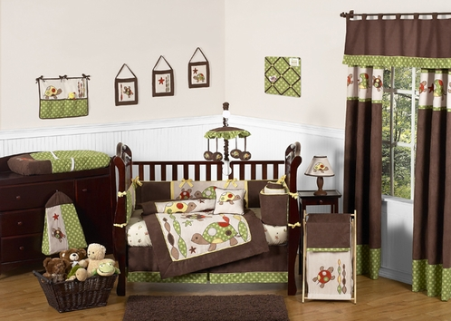 Sea Turtle Baby Bedding - 9pc Boys Crib Set by Sweet Jojo Designs - Click to enlarge