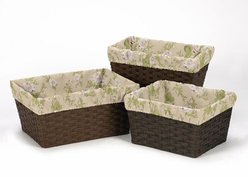 Set of 3 One Size Fits Most Basket Liners for Baby Annabel Bedding Sets - Click to enlarge