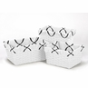 Set of 3 One Size Fits Most Basket Liners for Black and White Princess Bedding Sets