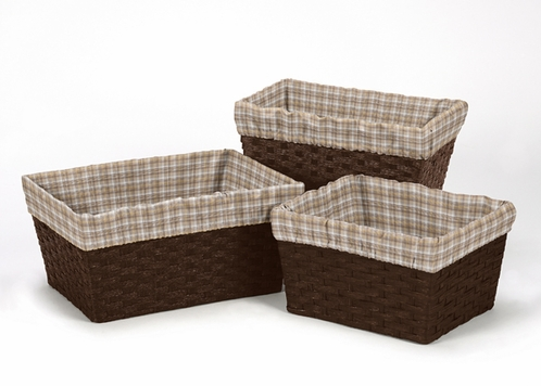 Set of 3 One Size Fits Most Basket Liners for Coordinating Bedding Sets by Sweet Jojo Designs - Click to enlarge