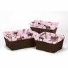 Set of 3 One Size Fits Most Basket Liners for Cowgirl Bedding Sets by Sweet Jojo Designs - Cowgirl Print