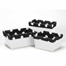 Set of 3 One Size Fits Most Basket Liners for Hot Dot Bedding Sets