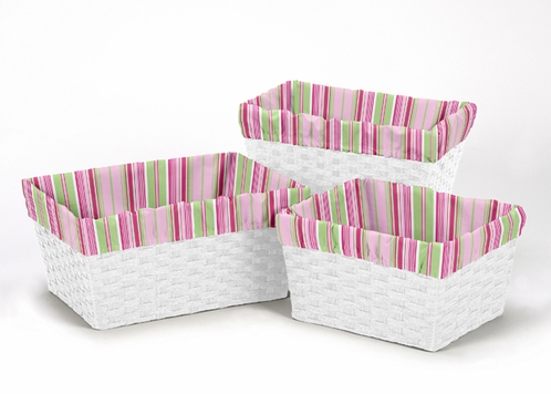 Set of 3 One Size Fits Most Basket Liners for Jungle Friends Bedding Sets - Click to enlarge
