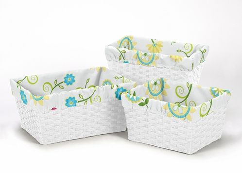 Set of 3 One Size Fits Most Basket Liners for Layla Bedding Sets - Click to enlarge