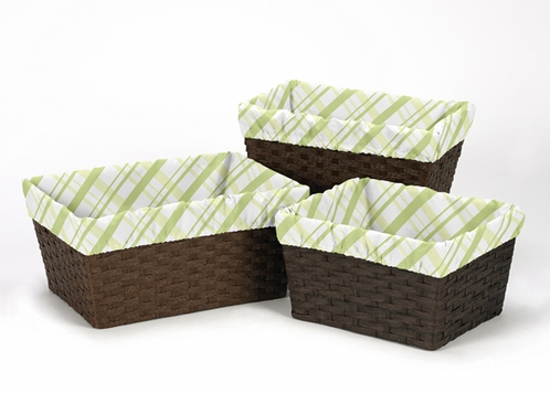 Set of 3 One Size Fits Most Basket Liners for Leap Frog Bedding Sets - Click to enlarge