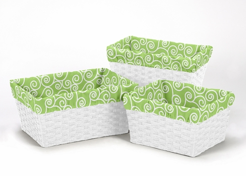 Set of 3 One Size Fits Most Basket Liners for Olivia Bedding Sets - Click to enlarge