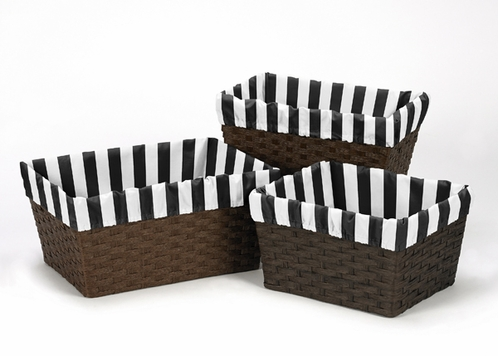 Set of 3 One Size Fits Most Basket Liners for Paris Bedding Sets - Click to enlarge