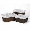 Set of 3 One Size Fits Most Basket Liners for Pink and Gray Kenya Bedding Sets