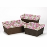Set of 3 One Size Fits Most Basket Liners for Pink and Khaki Camo Bedding Sets