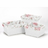 Set of 3 One Size Fits Most Basket Liners for Riley's Roses Bedding Sets