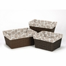 Set of 3 One Size Fits Most Basket Liners for Taupe and Off-White Giraffe Bedding Sets