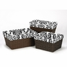 Set of 3 One Size Fits Most Damask Print Basket Liners for Sloane Bedding Sets