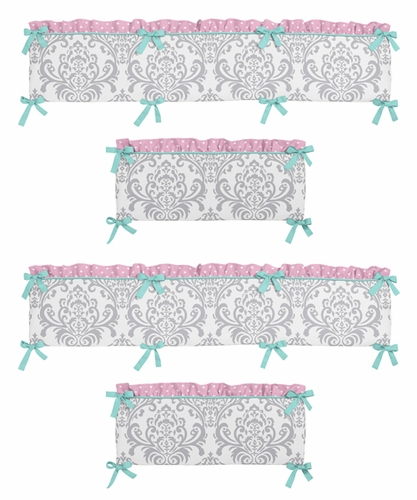 Skylar Collection Crib Bumper by Sweet Jojo Designs - Click to enlarge