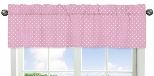 Pink and White Polka Dot Window Valance for Skylar Collection - Click to enlarge