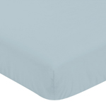 Slate Blue Baby or Toddler Fitted Crib Sheet for Bear Mountain Watercolor Collection by Sweet Jojo Designs