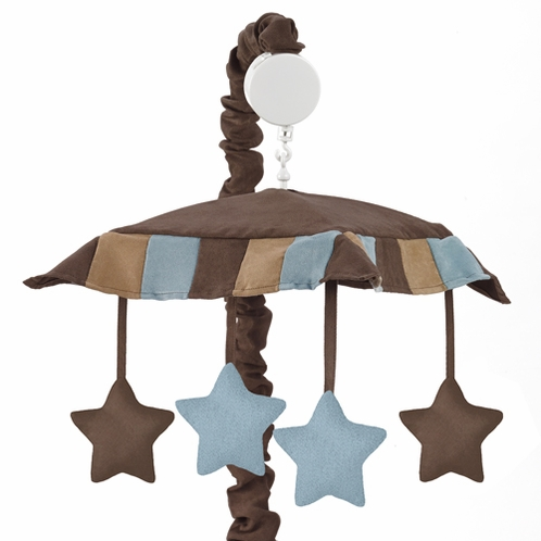 Soho Blue and Brown Crib Musical Mobile - Click to enlarge