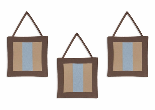 Soho Blue and Brown Wall Hanging Accessories by Sweet Jojo Designs - Click to enlarge