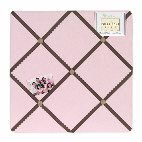 Soho Pink and Brown Fabric Memory/Memo Photo Bulletin Board - Click to enlarge