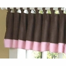 Soho Pink and Brown Window Valance