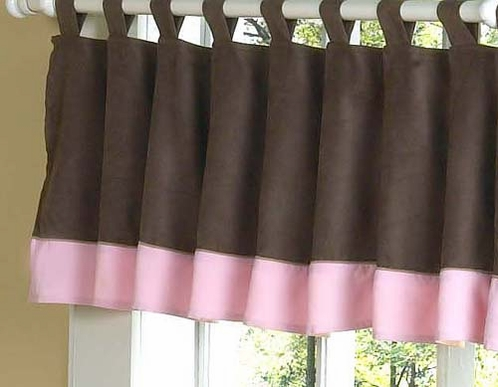 Soho Pink and Brown Window Valance - Click to enlarge