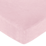 Soho Pink Fitted Crib Sheet for Baby and Toddler Bedding Sets by Sweet Jojo Designs - Solid Pink Microsuede