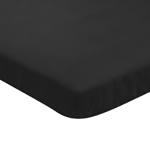 Solid Black Baby Fitted Mini Portable Crib Sheet for Infant Nursery by Sweet Jojo Designs