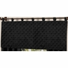 Solid Black Minky Dot Window Valance by Sweet Jojo Designs