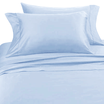 Solid Blue Hotel Spa Collection 300TC Sheet Set - Click to enlarge