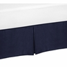 Solid Blue Twin Bed Skirt for Orange and Navy Arrow Children and Kids Bedding Sets