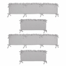 Solid Color Grey Shabby Chic Baby Crib Bumper Pad for Harper Collection by Sweet Jojo Designs