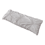 Solid Color Grey Shabby Chic Body Pillow Case Cover for Harper Collection by Sweet Jojo Designs (Pillow Not Included)