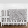 Solid Color Grey Shabby Chic Harper Baby Girl Crib Bedding Set with Bumper by Sweet Jojo Designs - 9 pieces