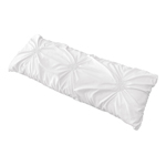 Solid Color White Shabby Chic Body Pillow Case Cover for Harper Collection by Sweet Jojo Designs (Pillow Not Included)