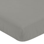 Solid Dark Grey Baby or Toddler Fitted Crib Sheet for Woodsy Collection by Sweet Jojo Designs