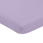 Solid Lavender Baby Fitted Mini Portable Crib Sheet for Infant Nursery Collection by Sweet Jojo Designs