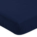 Solid Navy Blue Baby or Toddler Fitted Crib Sheet for Mountains Collection by Sweet Jojo Designs