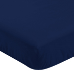 Solid Navy Blue Baby or Toddler Fitted Crib Sheet for Woodland Fox Collection by Sweet Jojo Designs