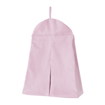 Solid Pink Nursery Diaper Stacker Storage Organizer