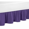 Solid Purple Queen Bed Skirt for Sloane Bedding Sets