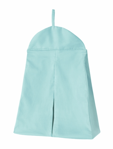 Solid Turquoise Blue Nursery Diaper Stacker Storage Organizer - Click to enlarge