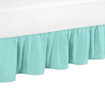 Solid Turquoise Toddler Bed Skirt for Skylar Kids Childrens Bedding Sets