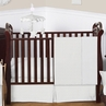 Solid White Minky Dot Baby Bedding - 11pc Crib Set by Sweet Jojo Designs