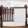 Solid White Minky Dot Baby Bedding - 4pc Crib Set by Sweet Jojo Designs